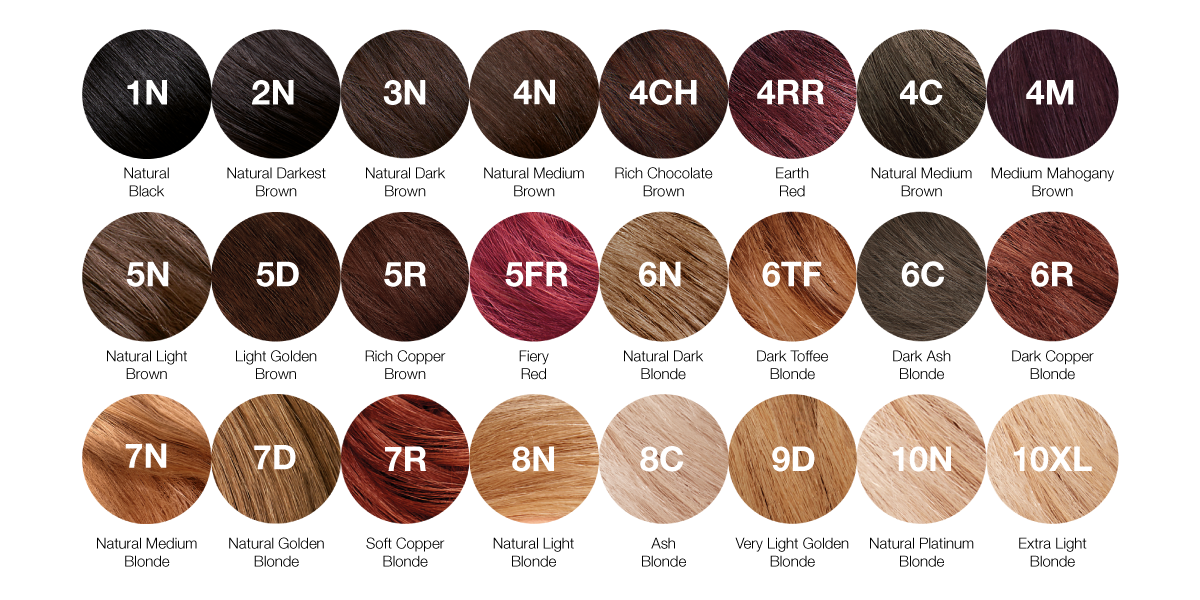 Our Colours A Guide To Our Range Of Hair Colours Tints