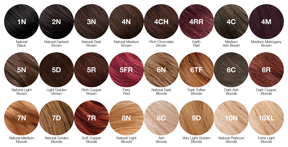 Our Colours A Guide To Our Range Of Hair Colours Tints Of Nature